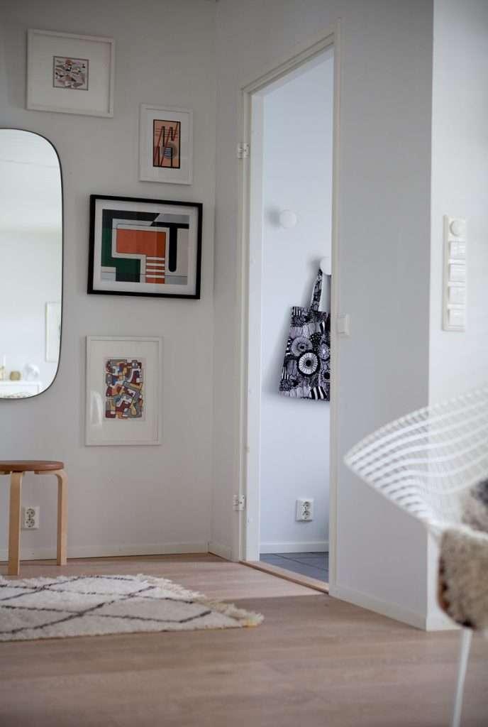GUBI ADNET RECTANGULAR -peili, 50 x 70 cm, ruskea