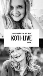 Anne Melender Valkoinen Harmaja Koti-Live